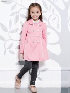 虹猫蓝兔童装粉色风衣