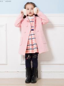 虹猫蓝兔童装粉色双排扣大衣
