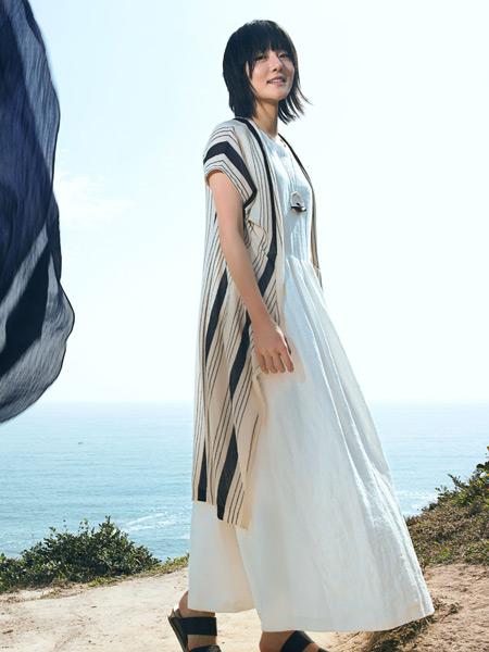 ZOLLE因为17新款棉麻连衣裙