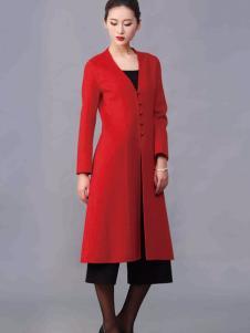 华艺嘉年女装红色修身长衫