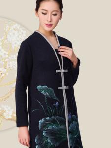 华艺嘉年女装刺绣中国式长衫外套