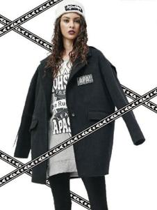 Apashop火星商店休閑裝黑色廓形外套