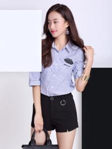 卡茵琪蓝色条纹衬衫