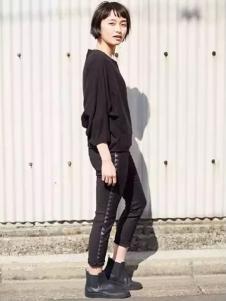 幻走女装黑色T恤