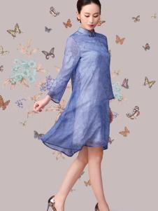 华艺嘉年女装棉麻连衣裙