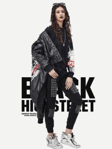Apashop火星商店黑色休閑夾克衫
