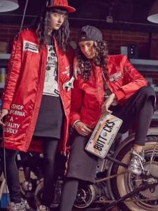 Apashop火星商店休闲装红色夹克外套