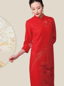 华艺嘉年女装红色刺绣喜服
