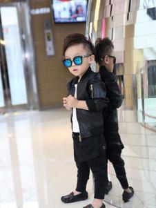 加菲A梦童装男童黑色夹克