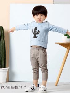 兔子杰罗男童印花T恤