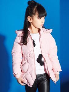 妈咪之星婴童装粉色羽绒服