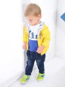 企鵝仔仔嬰童裝男童黃色外套