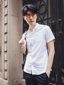 JAMSUN积上风尚男装翻领白衬衫