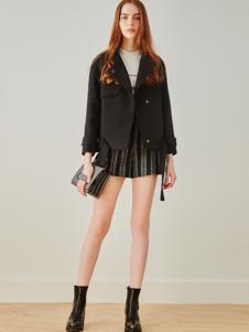 MOFAN摩凡女装黑色短款外套