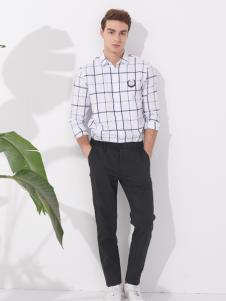 翡翠男装春季格纹休闲衬衫