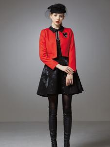 珈姿莱尔女装红色小礼服外套