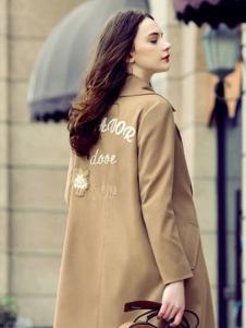 简约风情女装灰黄色外套