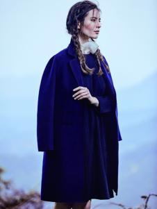 JESSIE杰西女装西装领中长款大衣