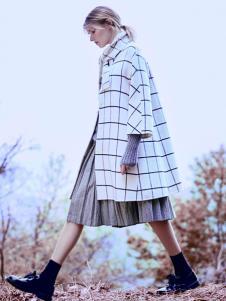 JESSIE杰西女装格纹廓形外套