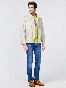 JOSFOND杰思梵男装米白色夹克