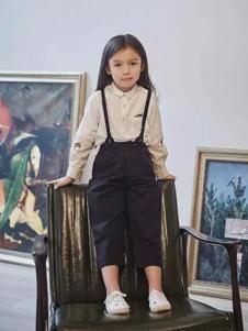 江南布衣童装2017春夏新品女童背带裤