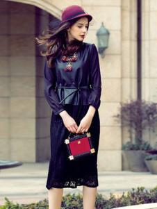 简约风情女装黑色蕾丝半裙