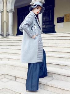 嘉奈芘女装拼接大衣