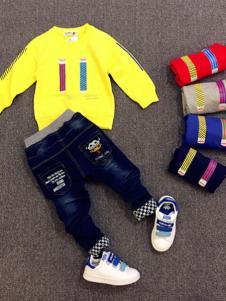 123童装黄色卫衣