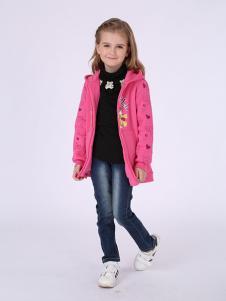 加菲猫粉色大衣
