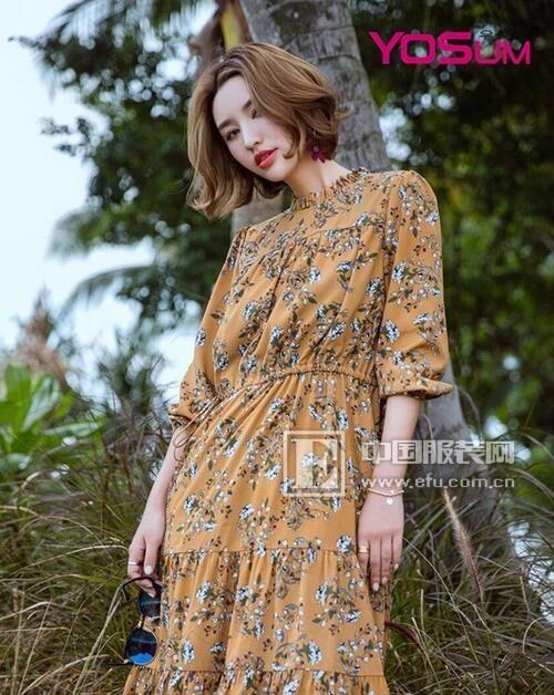 YOSUM碎花连衣裙,让你像花儿一样美!