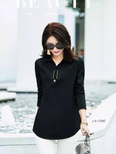 艾米黑色时尚衬衫新款