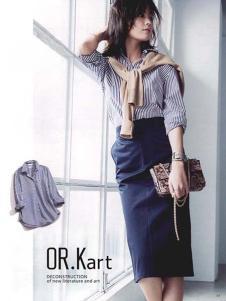 OR.Kart解构 女装新品条纹衬衫