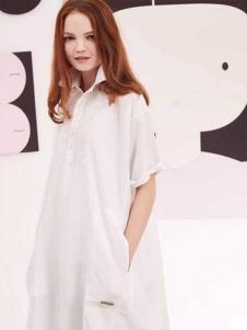 近所物语女装廓形白衬衫