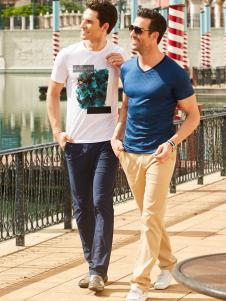 卡度尼男装新款时尚T恤