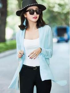 艾米蓝色时尚开衫外套