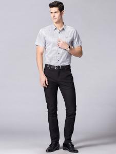 卡帝乐鳄鱼男装短袖衬衫
