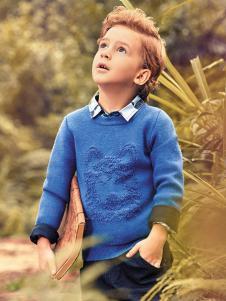 KHAKI卡琪屋童装蓝色针织衫