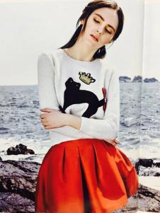 卡熙名品女装白色针织衫