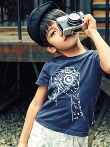 KHAKI卡琪屋童装卡通印花T恤