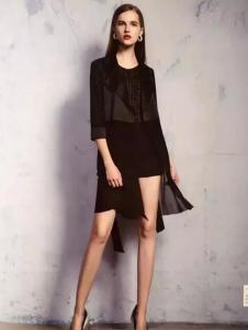COCIINN卡琦依2017春夏新品黑色套装