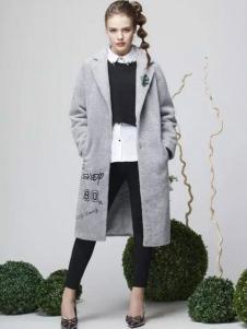 K·MAYA凯迪米拉女装灰色修身外套