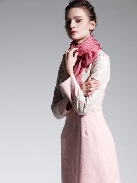 适时雅集新款粉色修身淑女连衣裙