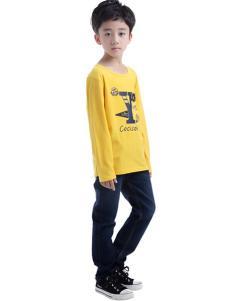 CociCoki可趣可奇童装动物印花黄色T恤
