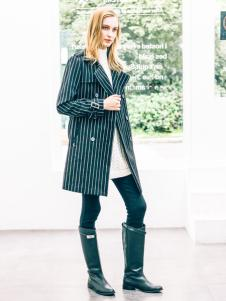 COOZIC珂妮卡女装条纹风衣