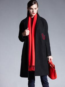 适时雅集新款经典黑色外套