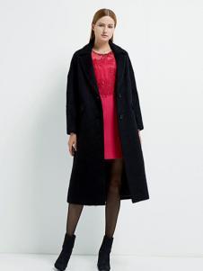 珂尼蒂思女装黑色长款外套