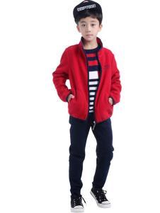 CociCoki可趣可奇童装红色休闲卫衣外套