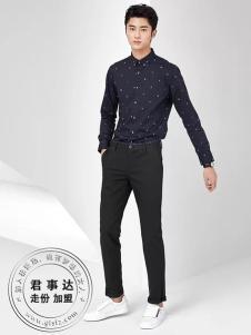 欧森朗男装2017新品波点衬衫