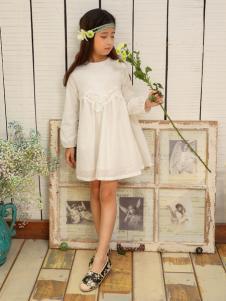 金果果童装2017新品白色淑女裙