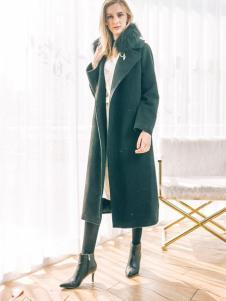 COOZIC珂妮卡女装黑色修身大衣